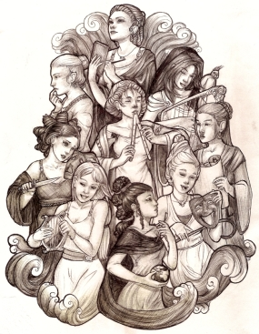 the_nine_muses_by_wegs